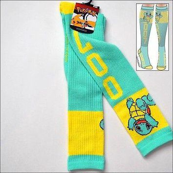 Nintendo Pokemon Go Squirtle Pokedex Costume Cosplay Long Knee High Boot Socks