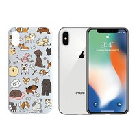Cute Dogs Clear Transparent Plastic Phone Case Phone Cover for Iphone X_ SUPERTRAMPshop (iphone X)