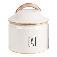 "Housewares International Mr. Food Test Kitchen Farmhouse ""Eat"" Canister"
