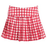 Red Gingham Tennis Skirt