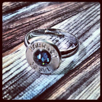 Simplistic Bullet Ring - Denim Blue