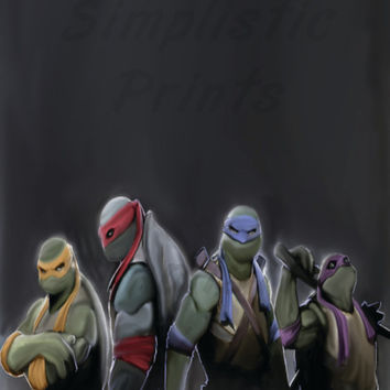 Teenage mutant ninja turtles 8x10 wall print
