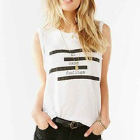 Truly Madly Deeply Spliced Verbiage Twist-Cuff Muscle Tee