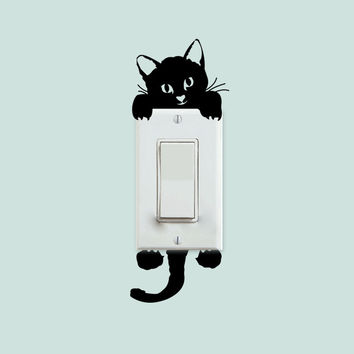 Cat Light Panel Decal