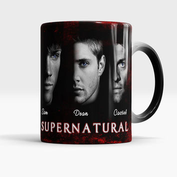 Supernatural color changing mug, Sam, Dean, Castiel - magic coffee - tea cup, Gift for supernatural lovers