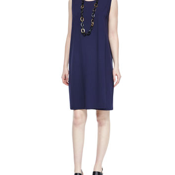 Sleeveless Faux-Wrap Jersey Dress, Petite, Size: