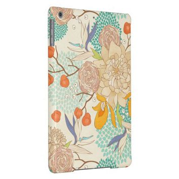 Modern Rose Peony Flower Pattern iPad Air Case