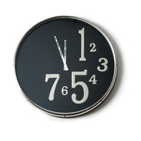 X-Clock with Large Black Face design by Barbara Cosgrove | BURKE DECOR