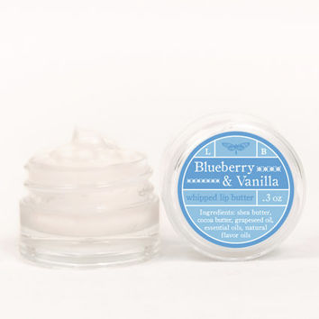 SALE - Whipped Lip Butter - Blueberry & Vanilla - Natural Icing for Your Lips