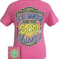 Girlie Girl Originals Forecast God Reigns & Son Shines Christian Bright T Shirt