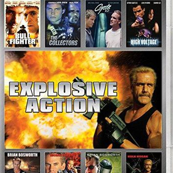Jr. Antonio Sabato & Casper Van Dien & Allan A. Goldstein & Shimon Dotan -Explosive Action 8-Movie Collection Spill / Collectors / Ultimate Weapon / High Voltage / Midnight Heat / Bull Fighter / Coyote Run / Musketeers Forever