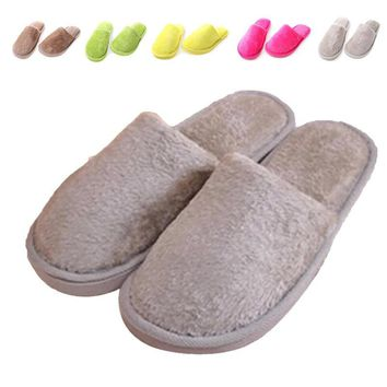Promotion New Fall Winter Shoe Women Warm Home House Floor Confinement Slipper Men Lad