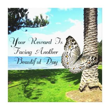 Reward Quote by Kat Worth Canvas Print