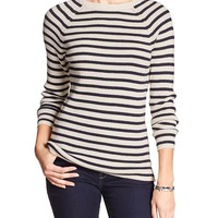 Banana Republic Factory Stripe Crew Neck Sweater