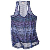 Mossimo Supply Co. Juniors Printed Crochet Back Tank - Assorted Colors