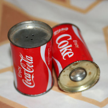Vintage Coca-Cola Salt and Pepper Shakers - Price Reduced, Missing Cap