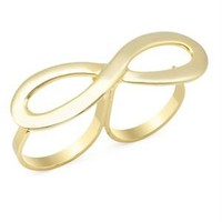 Echo Infinity Double-Finger Ring - Girls Night Out: Apparel & Accessories - Modnique.com