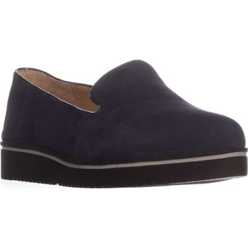 Franco Sarto Fabrina Flat Loafers, Midnight Suede, 8.5 US / 38.5 EU