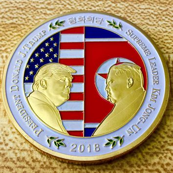 North Korean Peace Talks Challenge Coin