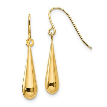 14K Yellow Gold Madi K Tear Drop Earrings