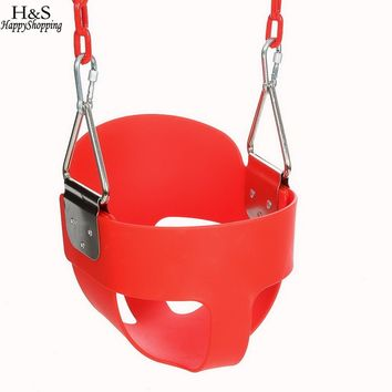 29.5*28*23CM Bucket Swing for Kids Children Play High Back Full Bucket Swing Seat With Coated Chain Good Play at Home or Garden