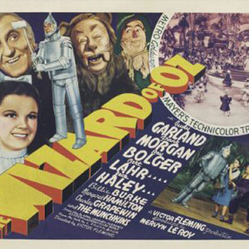 The Wizard Of Oz Judy Garland Vintage Movie Poster