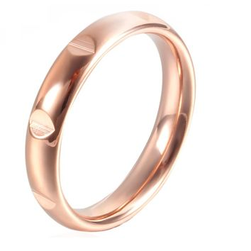 Stainless Steel Ring for women 3 mm simple high quality