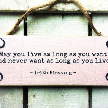 Irish Blessing. Inspirational Sign.  Handpainted Sign. Christmas Gift. Porch Sign. Gift for girlfriend. Gift for her. Bedroom Sign