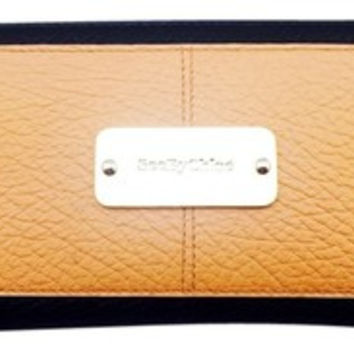 See By Chloe Tan And Black Continental Zip Around Wallet