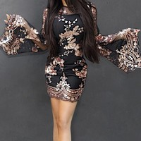 Cressa Sequined Mini Dress