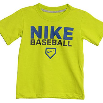 Nike Little Boys' Green Baseball Athletic T-shirt