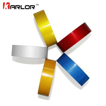 2cm*5m Car DIY Reflective Tape Sticker Strip Decoration Auto Motorcycle Truck Safety Warning Mark Signs Tapes Conspicuity Tape