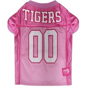 PEAPYW9 Clemson Tigers Pink Pet Jersey