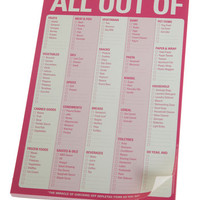 Knock Knock Best Seller All Out Of Notepad