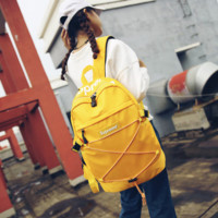 Yellow Supreme Printed Backpack School Bag