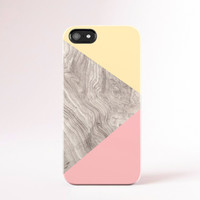 Summer iPhone 5 Case Wood Print Geometric iPhone 4 Case Yellow iphone Case Pink Samsung Galaxy S5 Case Case Pink Galaxy S4 Case Tough Case