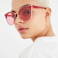 Veronica Half-Frame Cat-Eye Sunglasses | Urban Outfitters