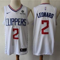 Los Angeles Clippers 2 Kawhi Leonard White Swingman Jersey