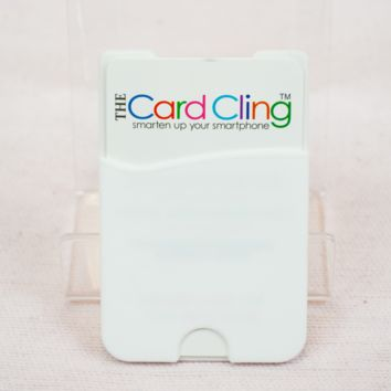 white card cling