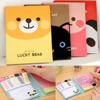 ONOR-Tech Lovely Cute Cartoon Post-It Note Bookmarker Sticky Notes Memo Note for Women
