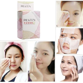PILATEN 100 PCS/box Facial Cotton Pads Remover Cleaning Wipes For Skin Care And Makeup Remover 60mm*70mm