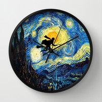 Harry potter painting Decorative Circle Wall Clock Watch by Three Second