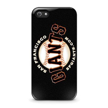 san francisco giants 2 iphone 5 5s se case cover  number 1