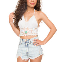 Janis Crochet Top - White