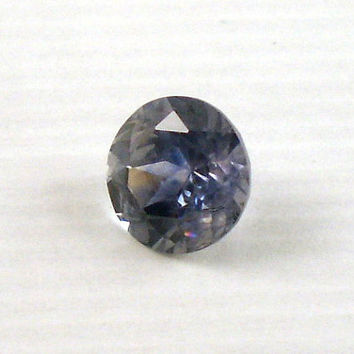 Montana Sapphire: 1.56ct Blue Round Shape Gemstone, Natural Hand Made Faceted Gem, Loose Precious Corundum Mineral, AAA Jewelry Supply 20258