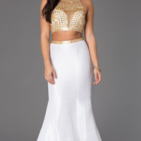 Two Piece Mermaid Prom Dress by Rachel Allan 6870