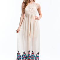 Boho Queen Embroidered Maxi Dress