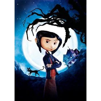 Coraline poster Metal Sign Wall Art 8in x 12in