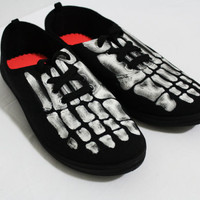 X-Ray Skeleton Black Off-Brand Toms Style Halloween Shoes