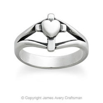 Cross with Heart Ring from James Avery